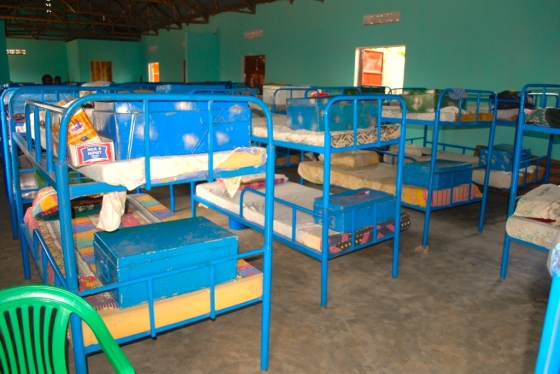 The double decker bunks required by the Ugandan authorities