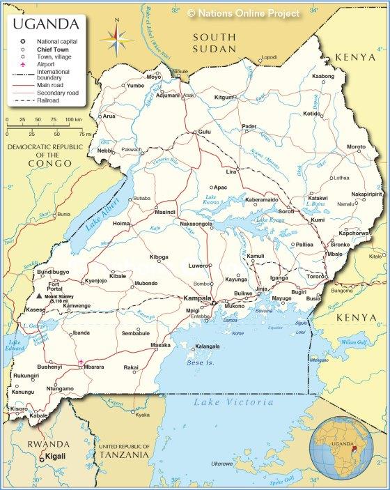 uganda-political-map